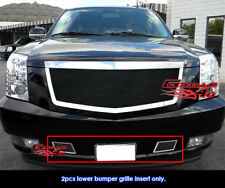 Fit Cadillac Escalade Tow Hook Black Stainless Steel Mesh Grille 2007-2014