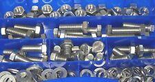 SCATOLA ASSORTIMENTO GRANDE 140 pezzi Vite acciaio inox DADI M12 DIN 933 Set
