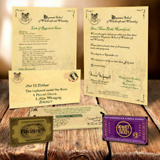 HARRY POTTER HOGWARTS ACCEPTANCE LETTER FUN CHRISTMAS LETTER IN PLACE OF SANTA