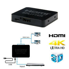 Full HD HDMI Splitter Amplifier Repeater 1080p 4K 3D 1 Input 2 Output with Cable