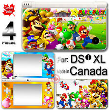 Mario Party Luigi Peach SKIN STICKER COVER for DSi XL