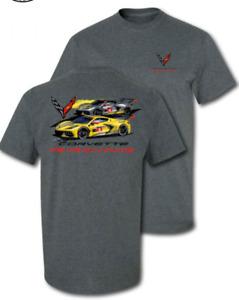 Corvette C8.R Racing T-Shirt Gray
