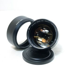 Canon Lens EX 125mm f/3.5 Lens for EE EX w/ Hood Caps From Japan, Tested, A+++