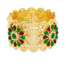 Luxus XL Armreif Orientalischer Armband Manchette Gelbgold Pl. Jade Paris Braut