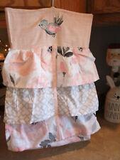 Levtex Baby Diaper Stacket * Pink & Grey's * With Hanger