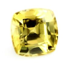 Certified Natural Unheated Yellow Sapphire 0.35ct VS Clarity 3.8x3.79 mm Cushion