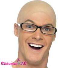 Mens Bald Skin Head Unisex Funny Skinhead Dress Fancy Costume Latex Wig Adult