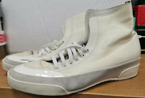 BALLY Womens Hi Shoes UK 7 Eur 40 White Canvas Leather Trainers Angelika