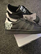 New listing Adidas Superstar J New Unisex Junior   Black Trainers size UK 4.5
