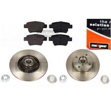 MAXGEAR SET Bremsscheiben mit Radlager + Bremsbelagsatz CITROËN PEUGEOT hinten