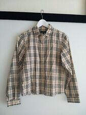 Burberry London Plaid Button Down Shirt Women's Size M See Measurements