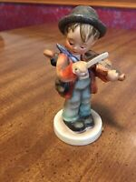 "Hummel Figurine - Boy with Fiddle - ""Little  Fiddler #4 TMK3"