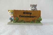 """Kitty Cucumber Display Sign"" 1987 Schmid Cat Display - Mint"