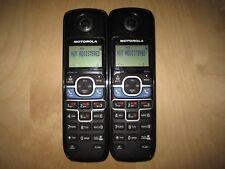 Lot of 2 Motorola L702Bt Dect 6.0 Cordless Expansion Handset Phone