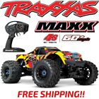 TRAXXAS MAXX 4S BRUSHLESS 4WD 1/10 MONSTER TRUCK SOLAR FLARE 60+MPH FREE SHIP!