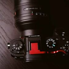 for Sony A7MII A7RII A7S2 A7SII Camera Black Metal Thumb-up Grip, Red Color