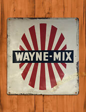 "TIN SIGN ""Wayne Mix"" Ranch Farm Poultry Livestock Hog Barn Cattle Wall Decor"