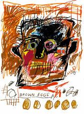 Art Poster Jean Michel Basquiat Brown Eggs Popart   Art Print