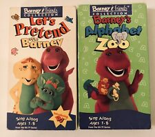 Alphabet Zoo / Let's Pretend (VHS 1995) Barney Home Video PLAY TESTED EXCELLENT
