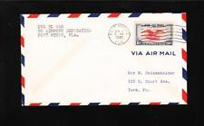WWII NO Airport Dedication DUE TO WAR Fort Myers FL 1942 Air Mail Cover  z83