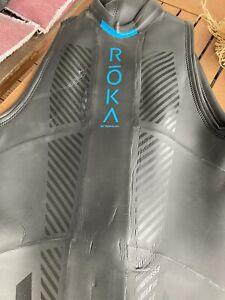 ROKA Maverick Comp II Sleeveless Triathlon Wetsuit Neopren Orca Sailfish Gr XL