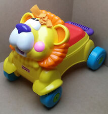 Fisher Price Stride to Ride Lion Wheeled Push Sit-on Walker LIGHTS SOUNDS MUSIC