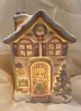 "🎀Precious Moments 1995 ""Home Sweet Home"" Lighted Figurine E165074 *Pristine"