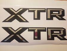 XTR decal stickers, black matte and chrome truck silverado F150 (SET)