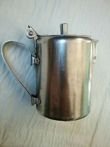 Vintage Edward Don & Co Stainless Steel Creamer with Hinged Lid - Made in Japan