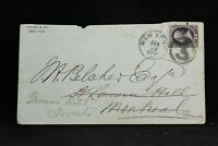 New York: NY City 1874 12c Banknote Cover to Canada, Fancy 3 in Circle Cancel