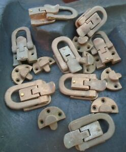 Antique Trunk Brass Hardware 7 Buckles Latches