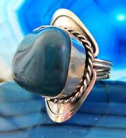 Anello alpaca argento pietre agata blu ethnoschmuck INDIANA INCA MAYA STILE 04