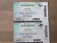 The Cure - Hyde Park London - 7th July 2018 x2 Tickets - General admission