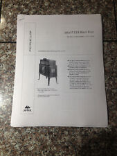 Jotul F 118 Black Bear wood stove manual installion and operating