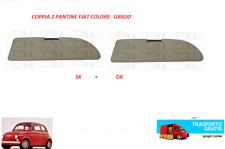 COPPIA 2 PANTINA ALETTA PARASOLE FIAT 500 F L R D N GIARDINIERA COLORE GRIGIO