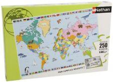 Nathan - 86935 Puzzle enfant Classique Carte du monde 250 Pièces