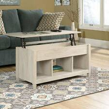Sauder Living Room Lift Top Storage Coffee Table Chalked Chestnut Finish