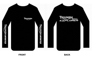 Triumph T shirt Long sleeve motorbike motorcycle biker vintage Tiger