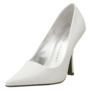 NEW - Chinese Laundry Women's Spicy Pointed Toe Pump , White Leather