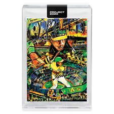 Topps PROJECT 2020 Card 185 - 1980 Rickey Henderson by Andrew Thiele -Presale-