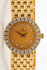 $10,000 Baume & Mercier 2ct VS G Diamond 18k Yellow Gold Panther Ladies Watch