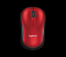 Genuine Logitech USB Wireless Mouse M185 with Nano Receiver Black Blue Red Cute