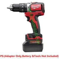 Milwaukee M18 Hammer Drill Tools Adapter Use with Makita 18V LXT Li-Ion Battery