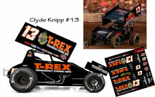 CD_SC_102 #13 Clyde Knipp T-Rex 2018 Sprint Car  1:24 Scale Decals    ~NEW~