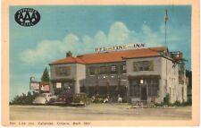 Postcard Canada Callander Ontario Red Line Inn Buily 1937