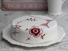 Nostalgie Teller groß Provence Chic Antique Kuchenplatte Kuchenteller 33 cm weiß