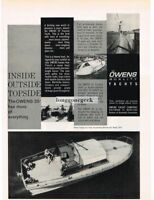 1960 OWENS 35' Express Yacht Boat Vtg Print Ad
