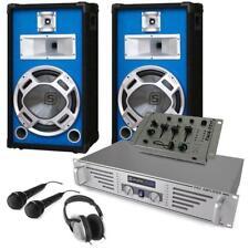 EQUIPO DJ 2x ALTAVOZ 25CM 400W AMPLIFICADOR 480W MESA MEZCLAS AURICULARES 2x MIC