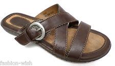 BORN (Brown,Leather,Sandals,6,Shoes,Slides)