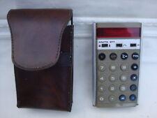 Vintage Anita 811 LED Calculadora & Leather Case & instrucción Folletos Originales